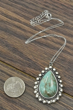 JChronicles Sterling-Silver-Chain Natural-Turquoise Pendant-Necklace - Alternate List Image