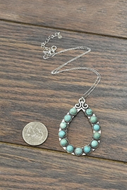 JChronicles Sterling-Silver-Chain Natural-Turquoise Pendant-Necklace - Front full body