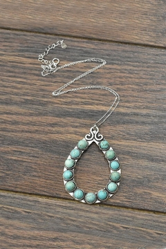 JChronicles Sterling-Silver-Chain Natural-Turquoise Pendant-Necklace - Product List Image