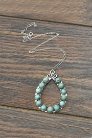 JChronicles Sterling-Silver-Chain Natural-Turquoise Pendant-Necklace - Front cropped