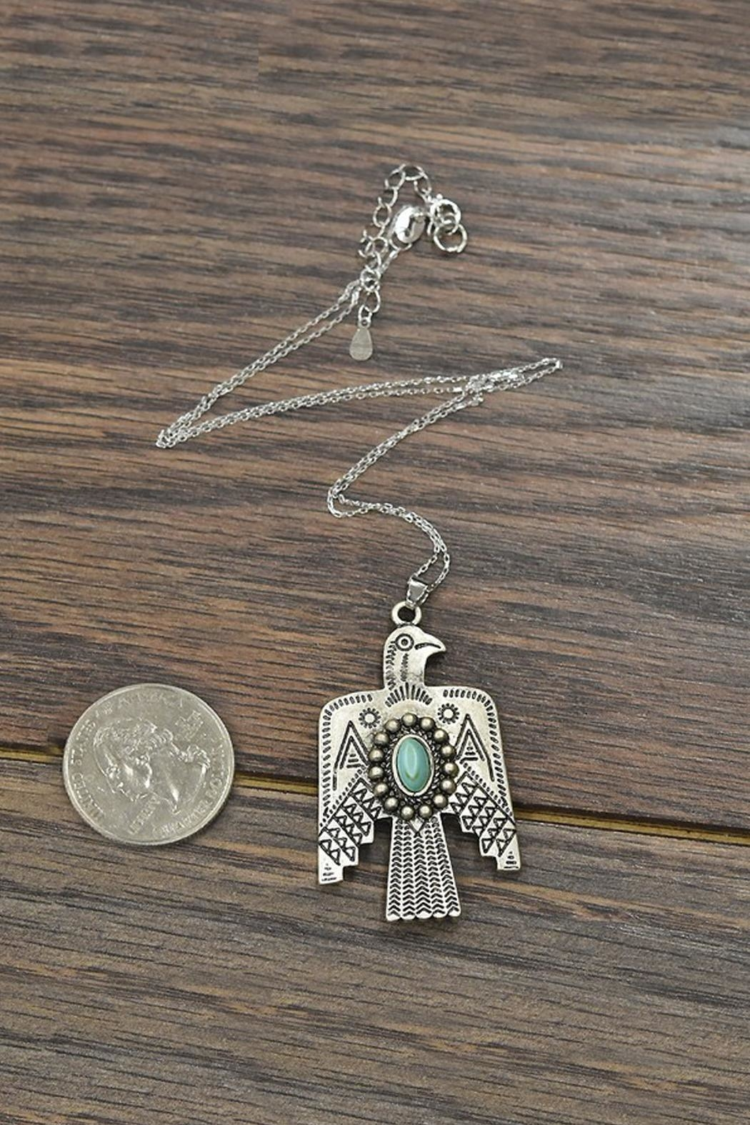 JChronicles Sterling-Silver-Chain Natural-Turquoise Thunderbird-Necklace - Front Full Image