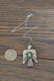JChronicles Sterling-Silver-Chain Natural-Turquoise Thunderbird-Necklace - Front full body