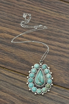 JChronicles Sterling-Silver-Chain With Natural-Turquoise-Pendant-Necklace - Product List Image