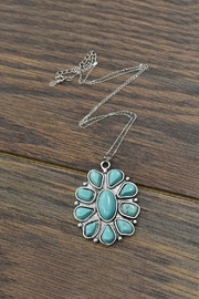 JChronicles Sterling-Silver-Chain With  Natural-Turquoise-Pendant-Necklace - Front cropped
