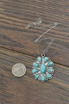 JChronicles Sterling-Silver-Chain With  Natural-Turquoise-Pendant-Necklace - Alternate List Image