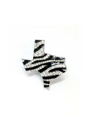 JChronicles Texas Map Zebra Ring - Front cropped