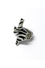 JChronicles Texas Map Zebra Ring - Front full body