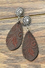 JChronicles Tooling Leather Post-Earrings - Product Mini Image