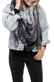 JChronicles Train Print Oblong Scarf - Front full body