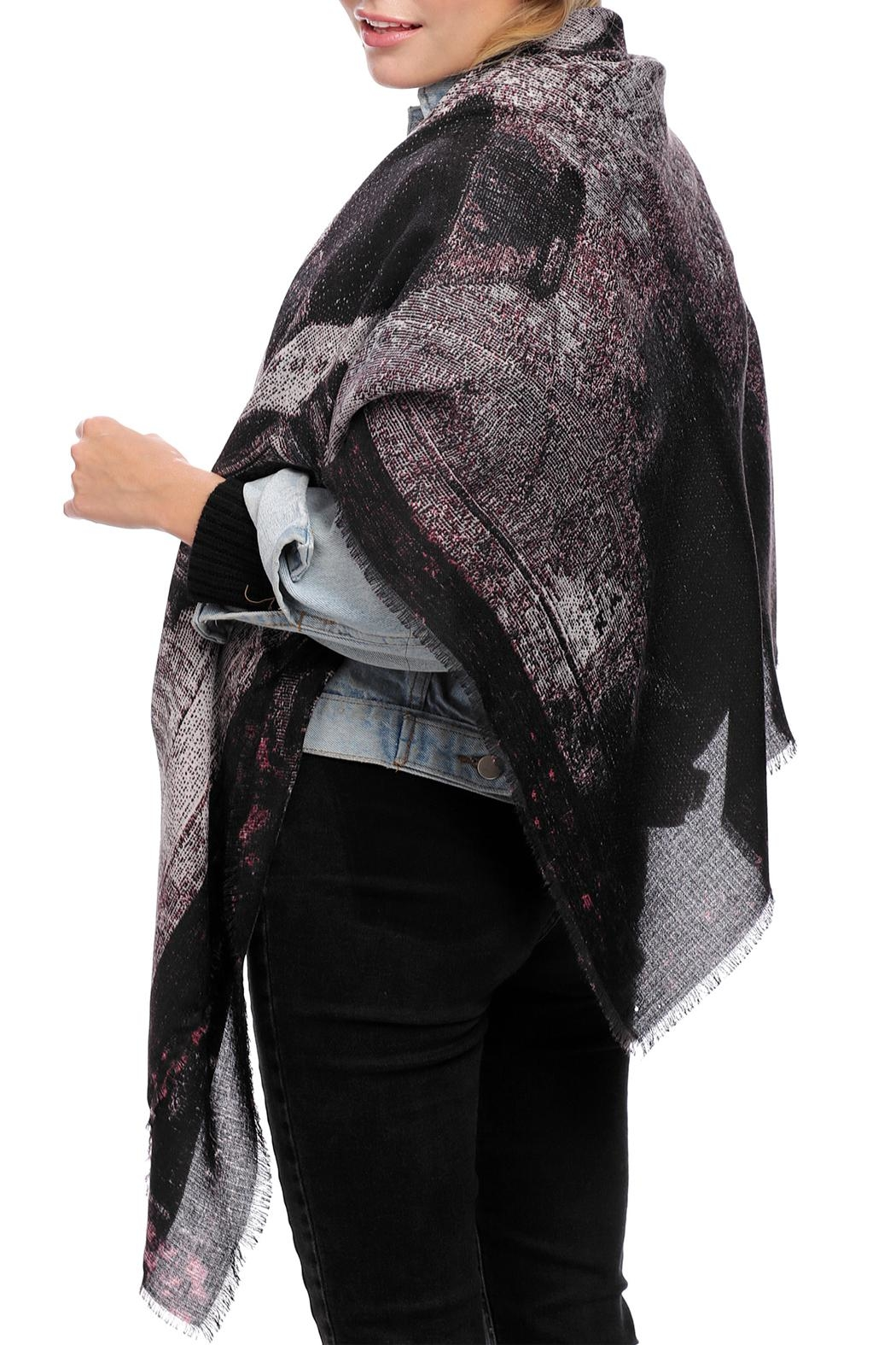 JChronicles Train Print Oblong Scarf - Front Cropped Image