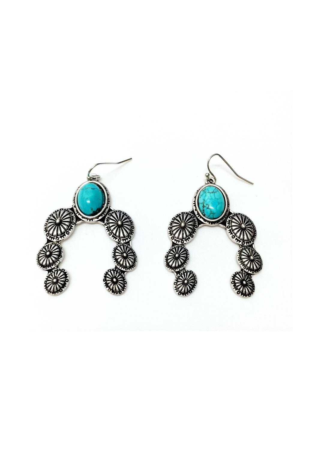 JChronicles Turquoise Concho Earrings - Front Full Image