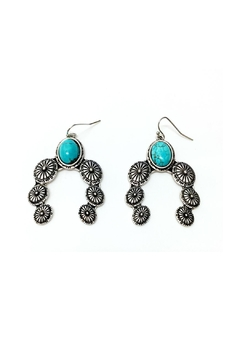 JChronicles Turquoise Concho Earrings - Alternate List Image