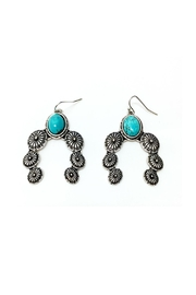 JChronicles Turquoise Concho Earrings - Front full body