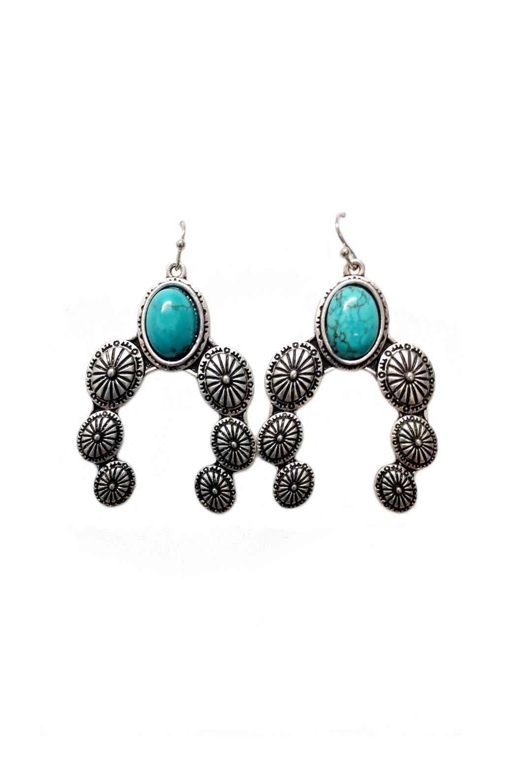 JChronicles Turquoise Concho Earrings - Main Image