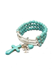JChronicles Turquoise Cross Bracelet - Front cropped