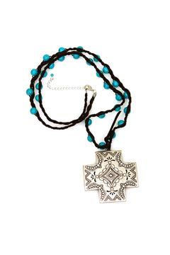 Shoptiques Product: Turquoise Cross Necklace