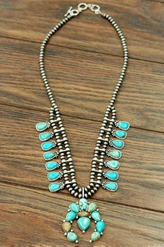 JChronicles Turquoise Squash Blossom Necklace - Alternate List Image