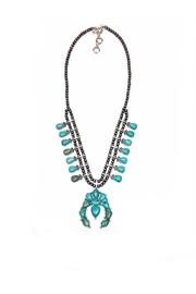 JChronicles Turquoise Squash Blossom Necklace - Product Mini Image