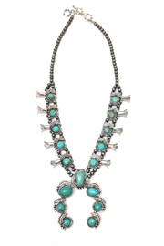 JChronicles Turquoise Squash Blossom Necklace - Front cropped