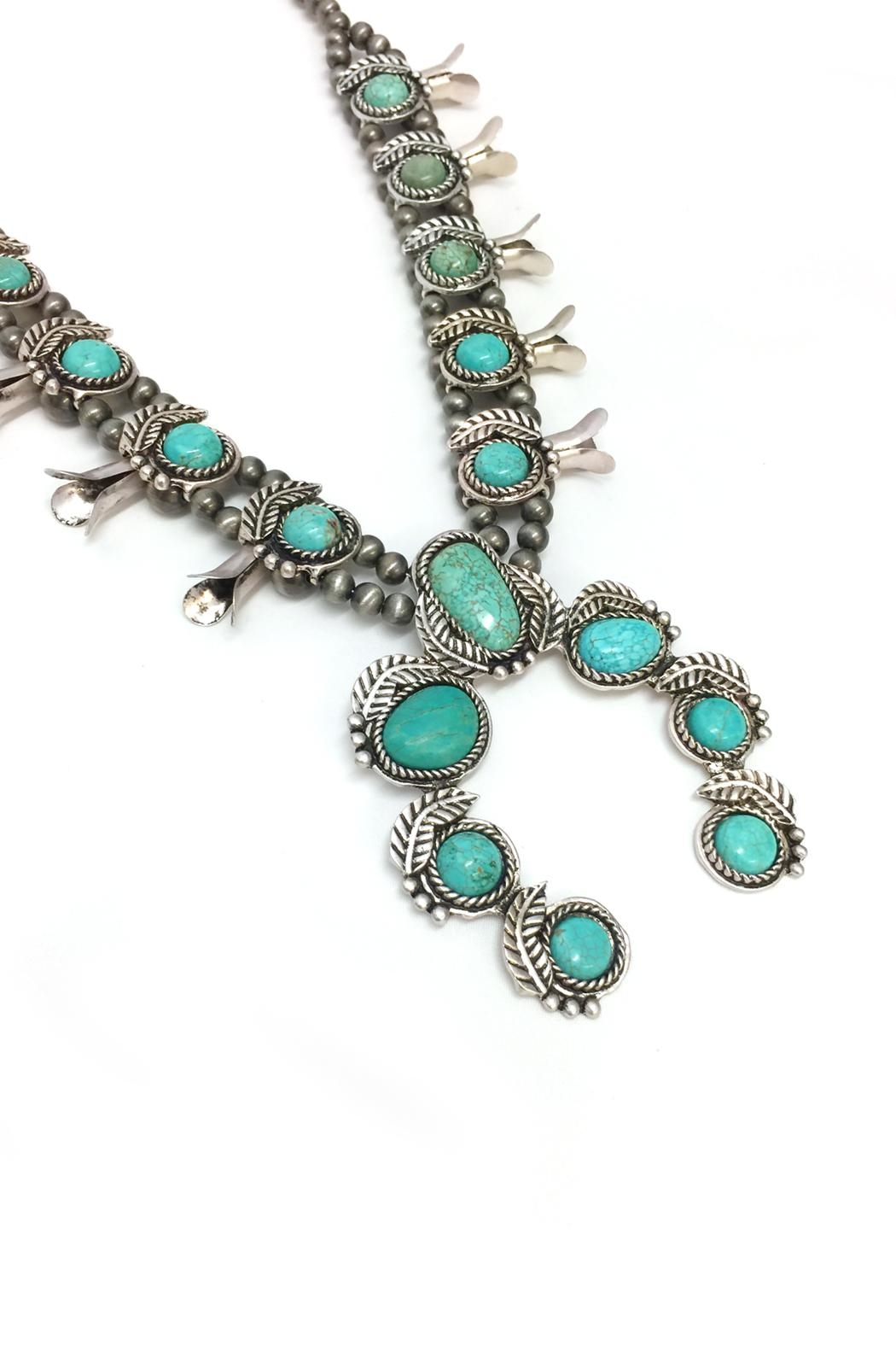 JChronicles Turquoise Squash Blossom Necklace - Front Full Image