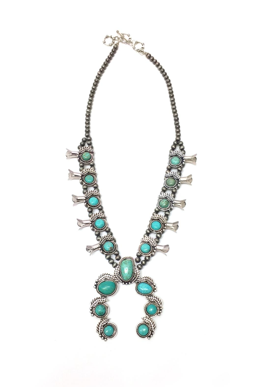 JChronicles Turquoise Squash Blossom Necklace - Main Image