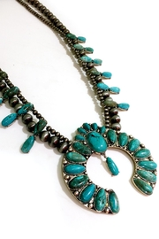 JChronicles Turquoise Squash Blossom Necklace - Front full body