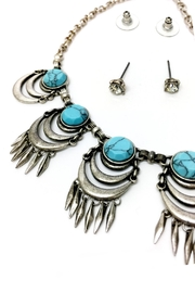 JChronicles Turquoise Statement Necklace - Front full body
