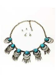 JChronicles Turquoise Statement Necklace - Front cropped