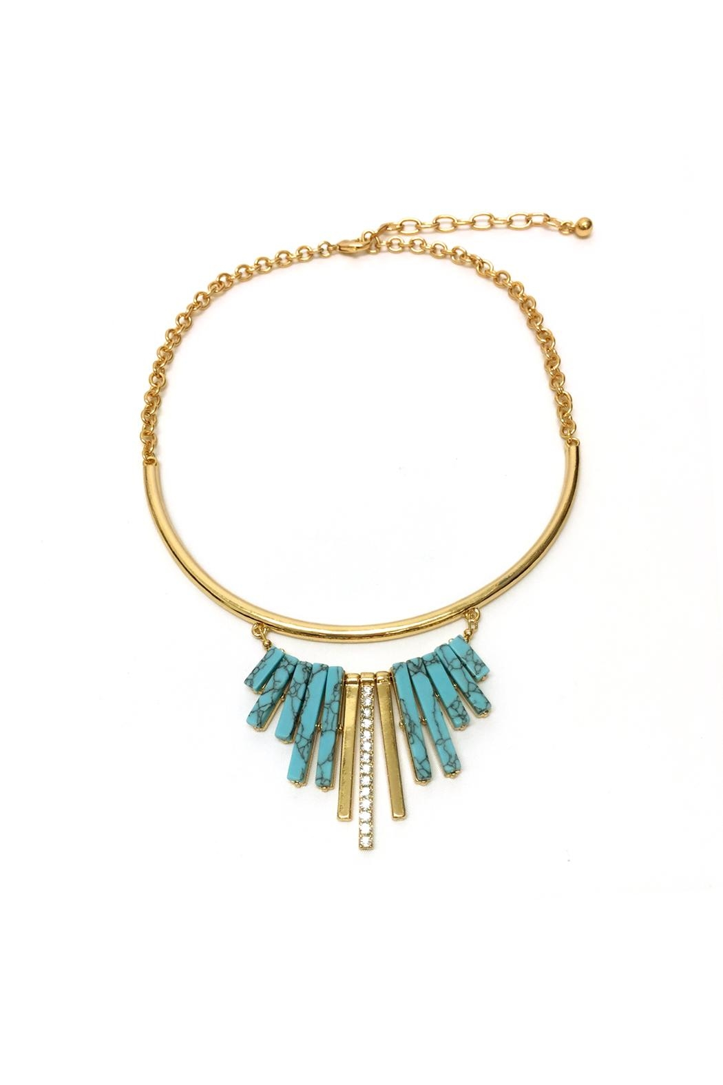 JChronicles Turquoise Statement Necklace - Main Image