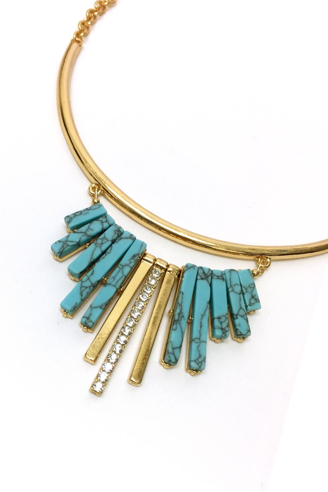 JChronicles Turquoise Statement Necklace - Front Full Image