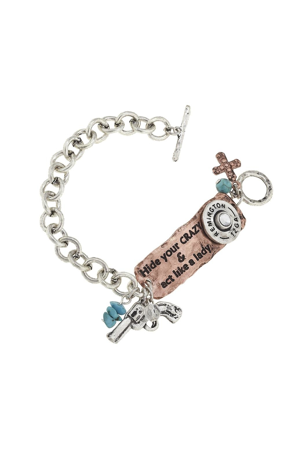 JChronicles Western Theme Toggle Bracelet - Front Cropped Image