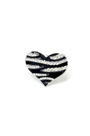 JChronicles Zebra Heart Ring - Front cropped