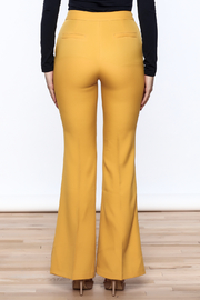 Jealous Tomato Mustard Bell Pants - Back cropped