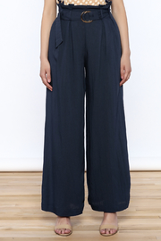 Jealous Tomato Navy High Waist Pants - Side cropped
