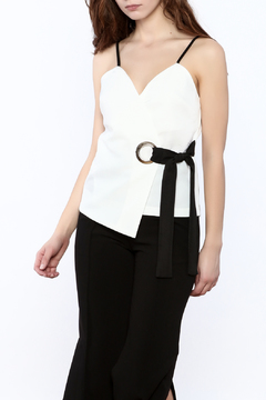 Shoptiques Product: Belted Wrap Top