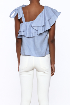 Shoptiques Product: Chambray Ruffle Top