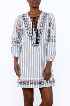 Shoptiques Product: Embroidered Stripe Dress