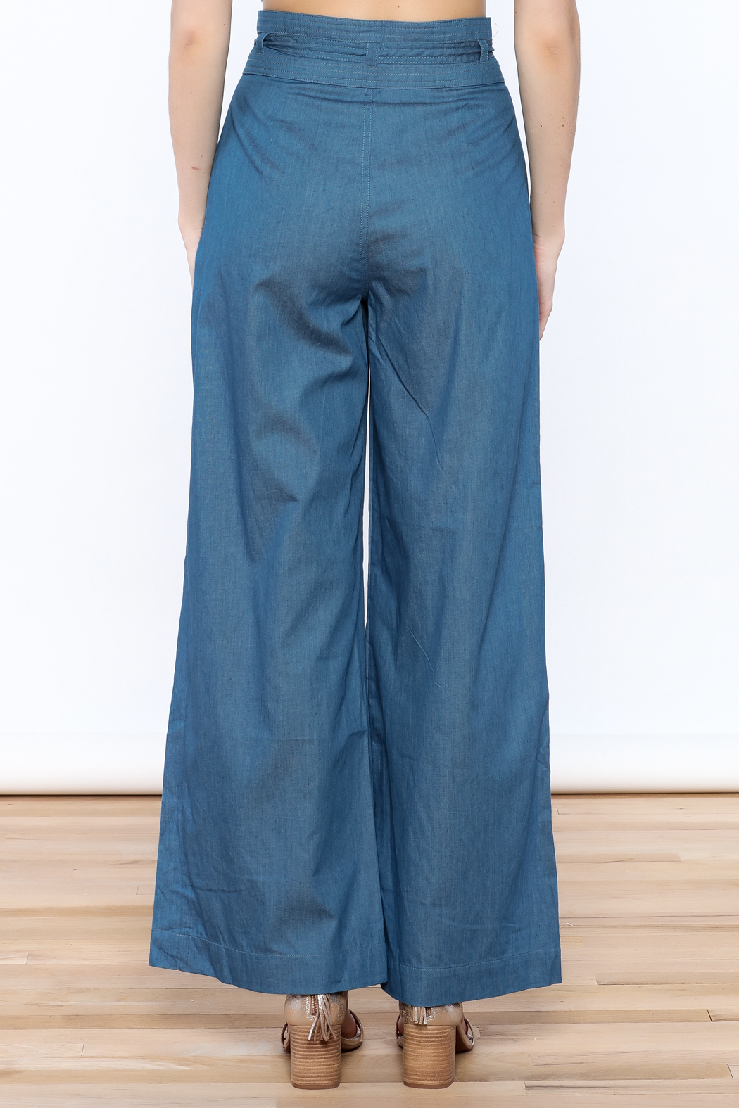 Jealous Tomato Wide Leg Denim Pants - Back Cropped Image