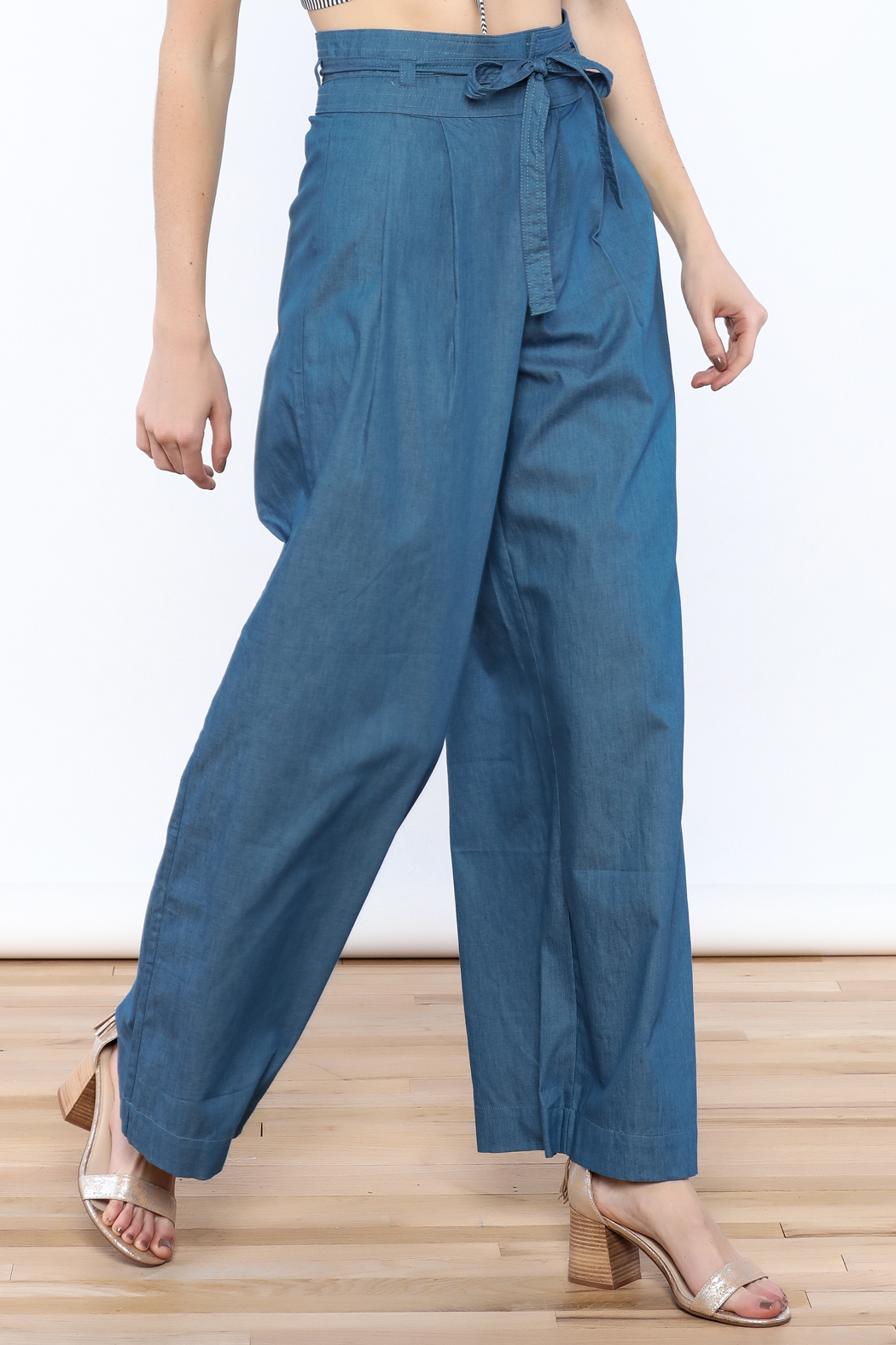 Jealous Tomato Wide Leg Denim Pants - Main Image