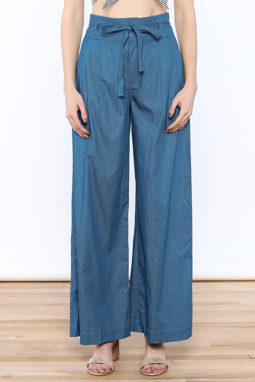 Jealous Tomato Wide Leg Denim Pants - Side Cropped Image