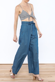 Jealous Tomato Wide Leg Denim Pants - Front full body