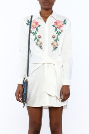 Shoptiques Product: Embroidered Shirt Dress