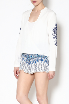 Shoptiques Product: Embroidered White Blouse