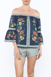 Jealous Tomato Navy Floral Top - Product Mini Image