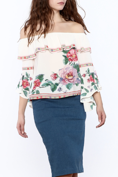 Shoptiques Product: Floral Off-Shoulder Blouse