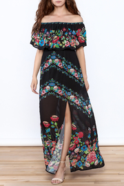 Jealous Tomato Black Floral Maxi Dress - Front full body