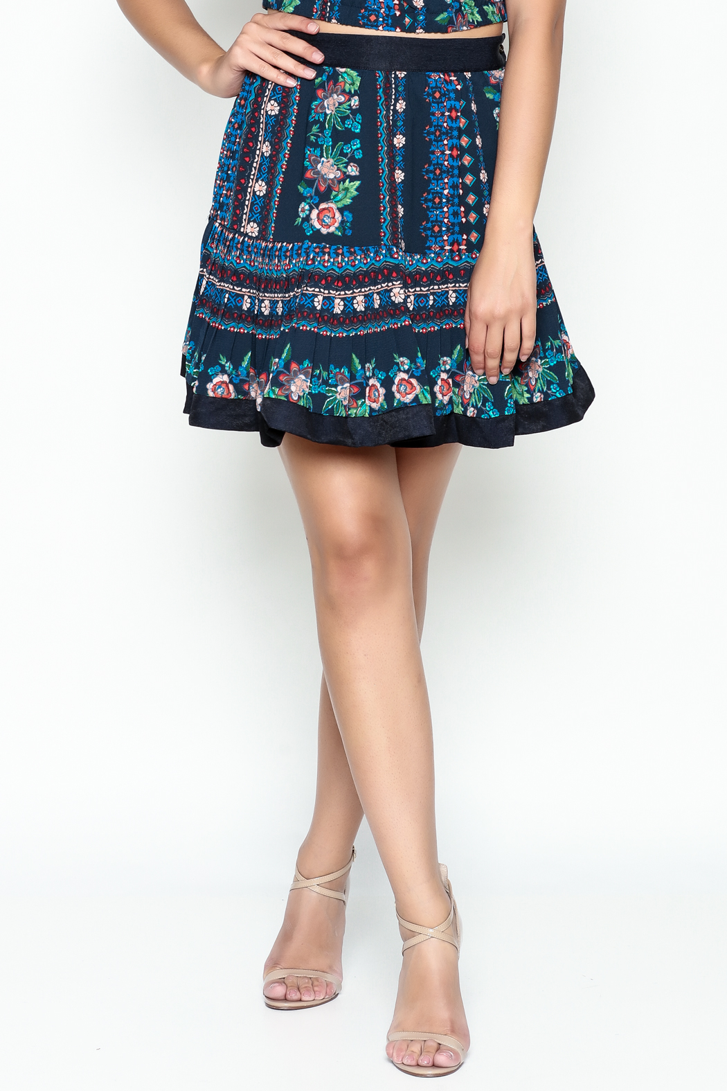 Jealous Tomato Floral Print Skirt - Side Cropped Image