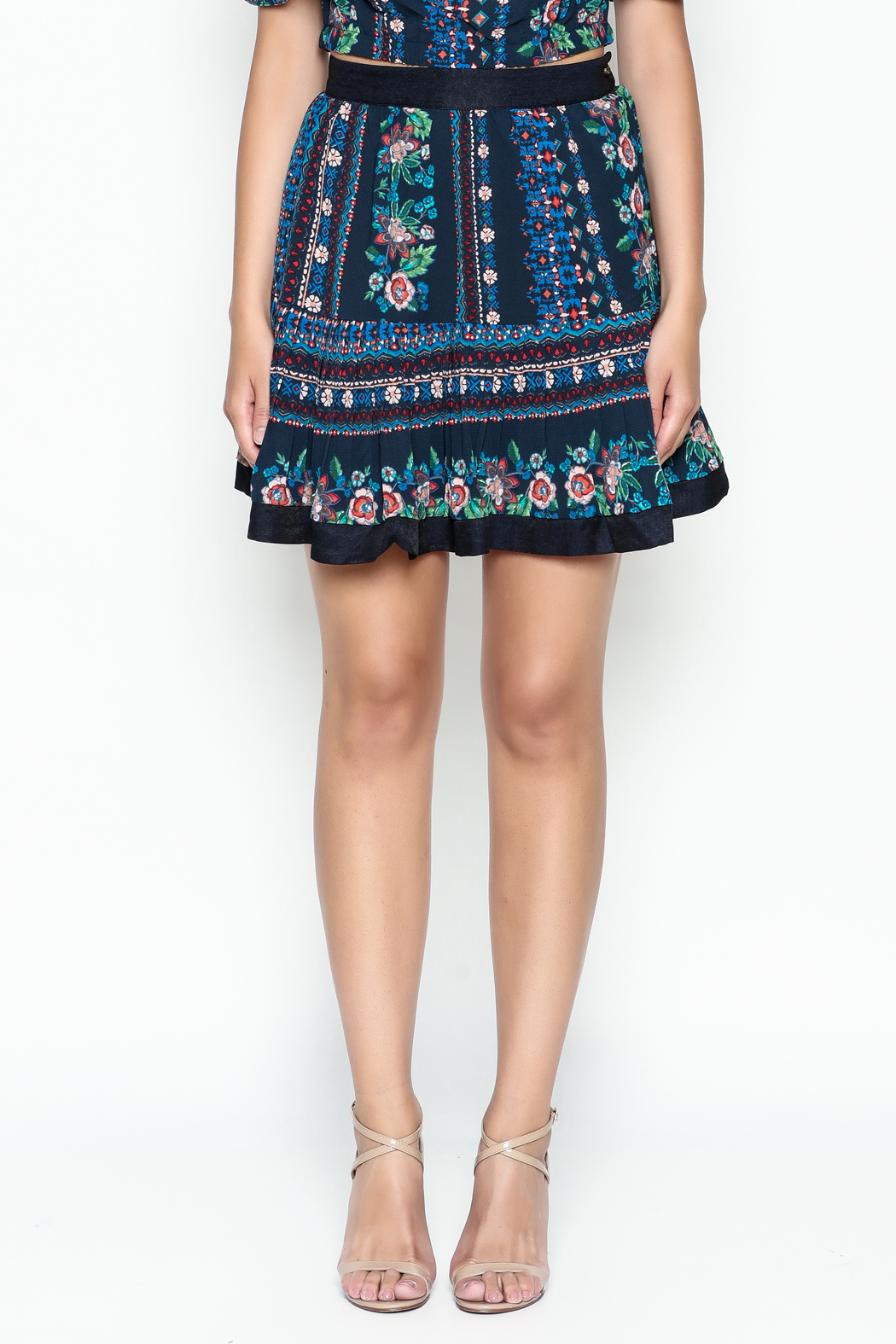 Jealous Tomato Floral Print Skirt - Front Cropped Image