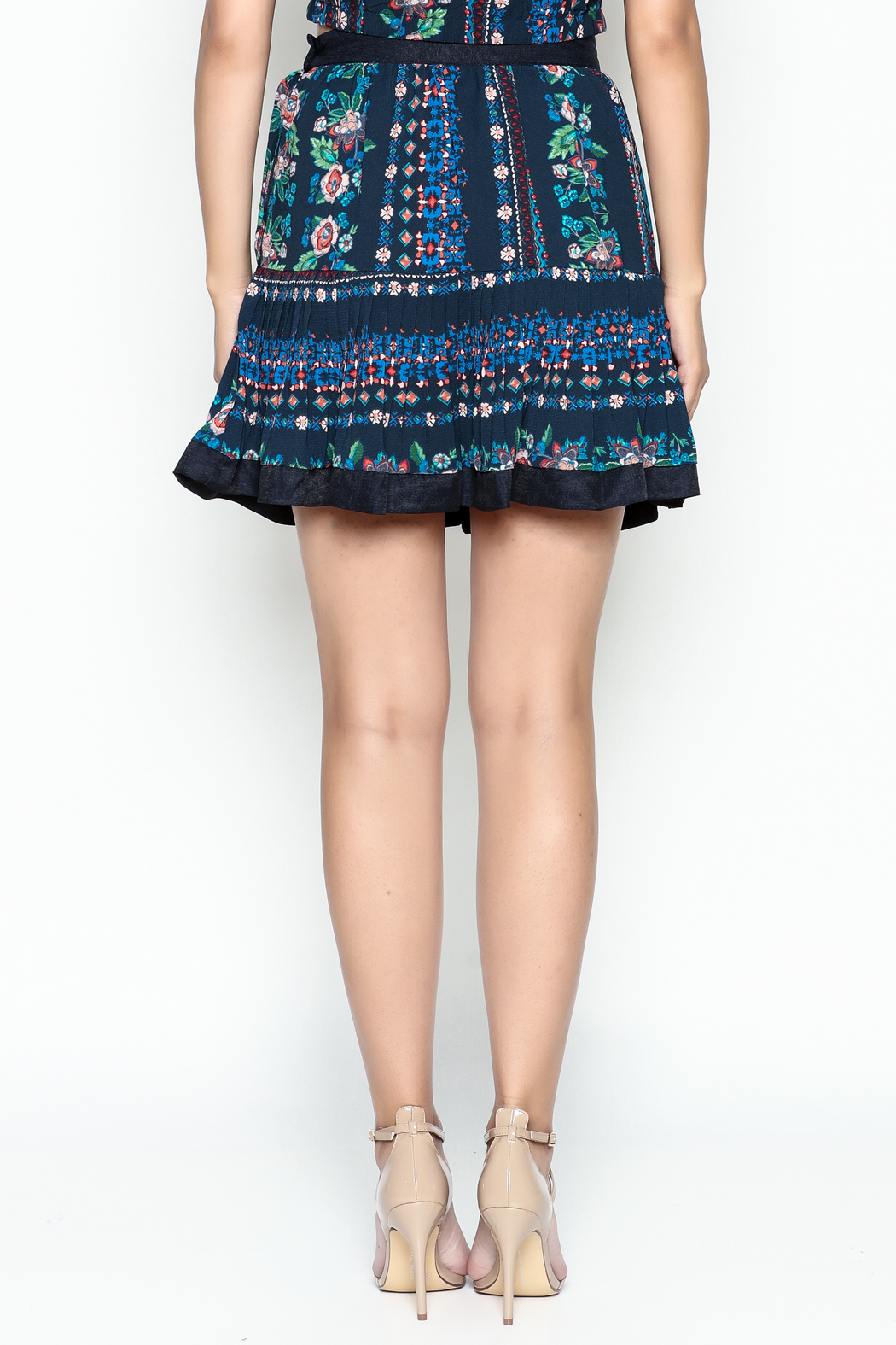 Jealous Tomato Floral Print Skirt - Back Cropped Image