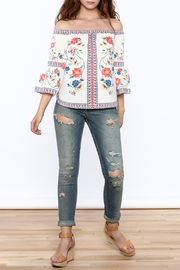 Jealous Tomato Floral Boho Top - Front full body